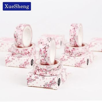 2PCS 15mm X 7m Cute Sakura Flower Decorative Washi Tape DIY Scrapbooking Masking Tapes School Office Supply