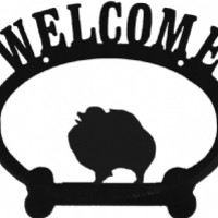 Welcome Pomeranian Metal Sign