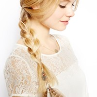 ASOS Feather & Charms Hair Grip