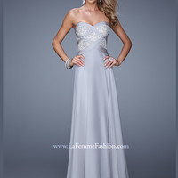 Sweetheart Beaded Flowing A-line La Femme Prom Dress 20953