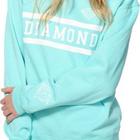 Diamond Supply Co. Collegiate Mint Crew Neck Sweatshirt