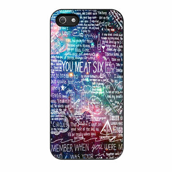 You Me At Six Quote All Time Low Galaxy iPhone 5s Case