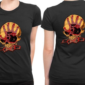 Five Finger Death Punch Render 2 Sided Womens T Shirt