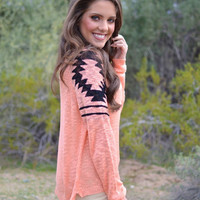 Closet Candy Boutique · All The Pretty Ruins Sweater - Peach