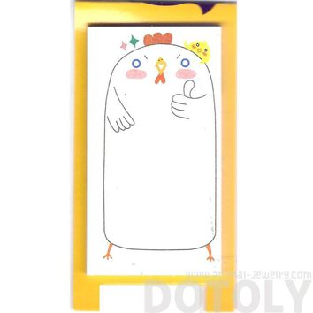 Illustrated Chicken Bird Animal Themed Sticky Memo Post-it Pad | DOTOLY