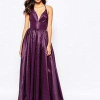 Fame and Partners Plunge Neck Serpent Maxi Dress