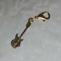 Electric Guitar Phone Cell Charm and Lobster Clasp
