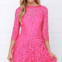Lace On By Pink Lace Dress