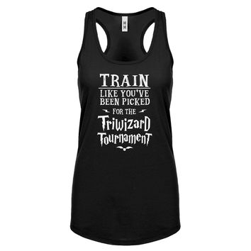 Racerback Train for Triwizard Tournament Womens Tank Top