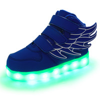 LED luminous for kids children casual shoes glowing usb charging boys & girls sneaker with 7 colors light up