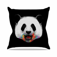 "Digital Carbine ""Where Is The Rainbow?"" Multicolor Illustration Outdoor Throw Pillow"