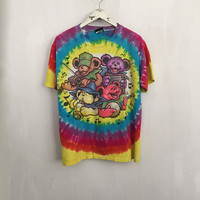 Grateful Dead Bears shirt 90s vintage t shirt band t-shirts rainbow tie dye tshirt big river jamboree tee rock tshirts medium large