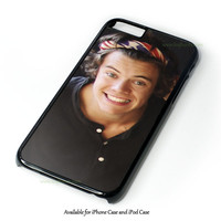 Harry Styles One Direction Bandana iPhone 4 4S 5 5S 6 6 Plus Case and iPod Touch 4 5 Case
