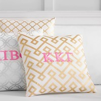 Greek Decorator Foil Pillow Covers
