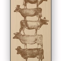 Cow Cow Nuts for iPhone 4/4S Case **