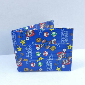 Super Mario Duct Tape Wallet - Bifold Wallet