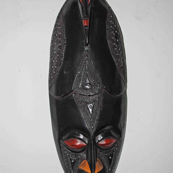African Art, Yoruba Mask, African American Art, Kwanzaa,  Home Decor, Afrocentric Art, Black Art, Tribal Art, African Mask , Afro Cuban Art