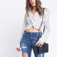Polka Dot Twisty Blouse