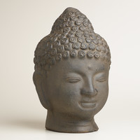 Terracotta Buddha Head - World Market