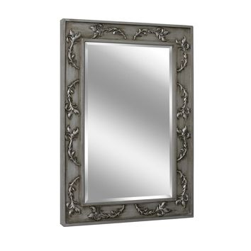 Classic Scroll Antique Nickel Wall Mirror (1048) - Illuminada