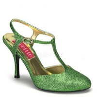 Green Glitter T Strap Heels @ Amiclubwear Heel Shoes online store sales:Stiletto Heel Shoes,High Heel Pumps,Womens High Heel Shoes,Prom Shoes,Summer Shoes,Spring Shoes,Spool Heel,Womens Dress Shoes,Prom Heels,Prom Pumps,High Heel Sandals,Cheap Dress Shoes