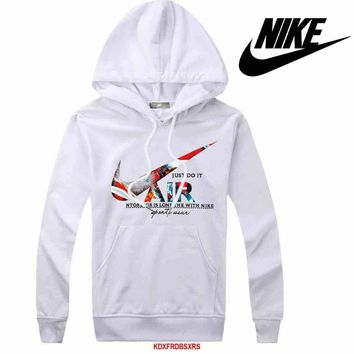 Nike Women Men Casual Long Sleeve Top Sweater Hoodie Pullover Sweatshirt-3