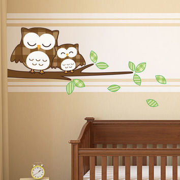 Sleeping Owls Wall Sticker - innovative home decoration