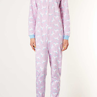 Unicorn Print Onesuit - Lingerie & Nightwear - Clothing - Topshop