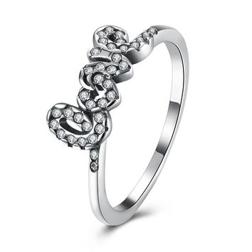 Sterling Silver Pandora Inspired LOVE Script Ring
