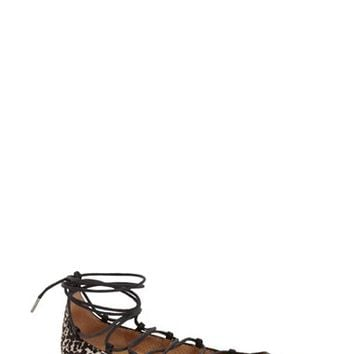 Women's Arricci 'Elodie' Lace Up Ghillie Flat,