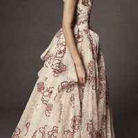 Floral Tulle Gown | Moda Operandi