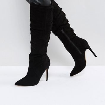 ASOS CORA Slouch Pointed Knee Boots at asos.com