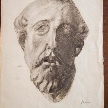 Drawing of Roman Bust