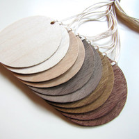 Gift Tags, Favor Tags, Wedding Tags, made from Sustainable Wood Veneer, Set of 10 (circle tag), Large Quantities Available