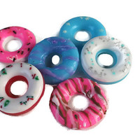Doughnut Soap - Pastry Soap - Dessert Soap - Gift for Teens - Fake Food Soap - Cotton Candy Favors - Doughnut Favors - Frozen Favors