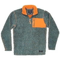 Piedmont Range Sherpa Pullover in Washed Slate and Burnt Orange by Southern Marsh - FINAL SALE