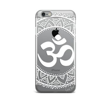 Clear Plastic Phone Case - Mandala Aum - iPhone 5/5s/SE, 6, 7