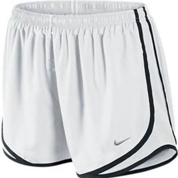 Womens Nike Tempo Track Running Shorts White/Black