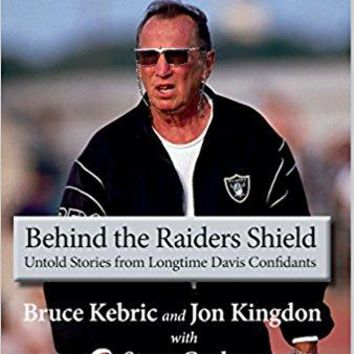 Al Davis Behind The Raiders Shield