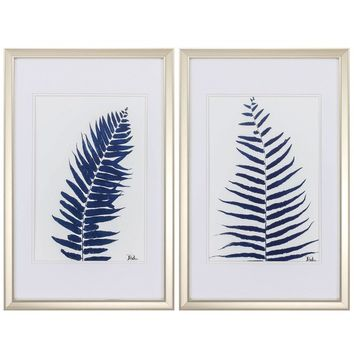 Ferns 2 Piece Framed Painting Print Set