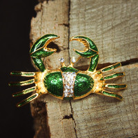Beach Crab Brooch #5208