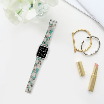 pineapple turquoise sea apple watch band Apple Watch Band (38mm) by Sharon Turner | Casetify