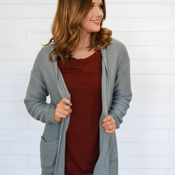 Defining Moment Cardigan - Slate Blue