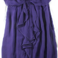 "~~~ OH MY! ~~~ VALENTINO PURPLE HIVER 2008 ""RUFFLE FRONT"" BUBBLE HEM DRESS ~ 6"