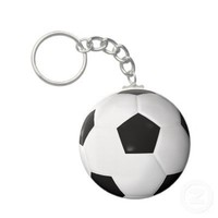 Soccer Ball ( Football ) Key Chains from Zazzle.com