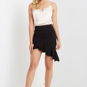 Kelly-Ann Asymmetrical Ruffle Skirt