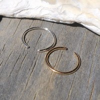 14K Gold Filled Ear & 925 Sterling Silver Cuff or Fake Nose Ring G