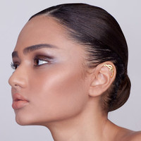Gold Plated Silver Celtic Cartilage Earring - celtic ear piercing , ear cuff , cartilage earring , celtic jewelry , lord of the rings