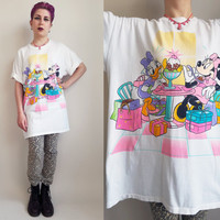 90s Clothing Disney Tshirt Minnie Mouse Daisy Duck Tshirt Vintage Sleep Shirt 90s Cartoon Tshirt Vintage 90s Disney Clothing Extra Large
