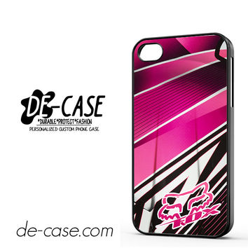 Fox Pink Motocross For Iphone 4 Iphone 4S Case Phone Case Gift Present